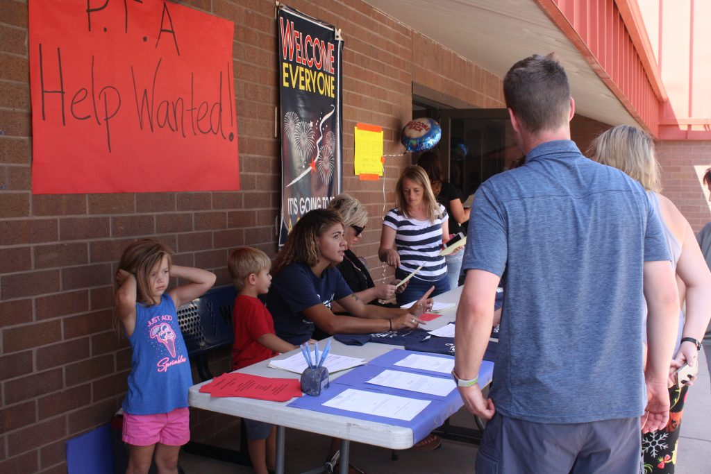 PTA selling tshirts to students